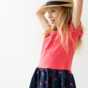 Hanna Andersson Girls Strawberry Sunny Playdress 8